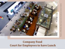 Company Food Court For Employees To Have Lunch