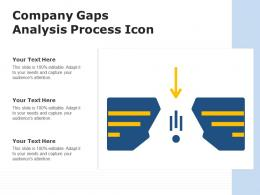 Company Gaps Analysis Process Icon