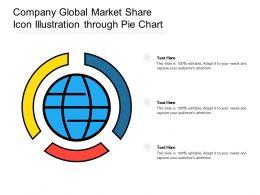 Company Global Market Share Icon Illustration Through Pie Chart