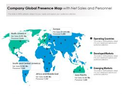 Company Global Presence Map With Net Sales And Personnel