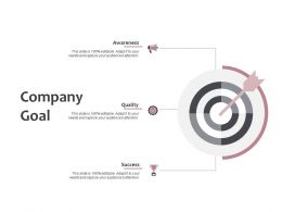 Company Goal Arrows Social Ppt Powerpoint Presentation Summary Example