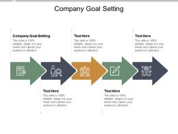Company Goal Setting Ppt Powerpoint Presentation Show Inspiration Cpb