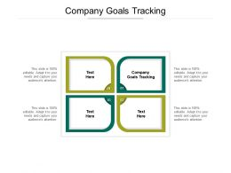 Company Goals Tracking Ppt Powerpoint Presentation Infographic Template Format Cpb