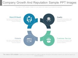 Company Growth And Reputation Sample Ppt Images