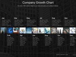 Company Growth Chart Powerpoint Presentation Templates