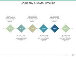 Company Growth Timeline Powerpoint Shapes