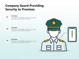 Company Guard Providing Security To Premises