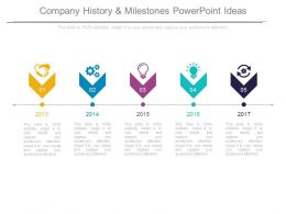Company History And Milestones Powerpoint Ideas