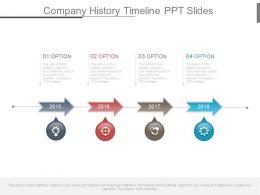 Company History Timeline Ppt Slides