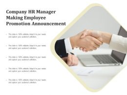 Company HR Manager Making Employee Promotion Announcement