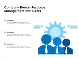 Company Human Resource Management With Gears