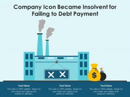 Company Icon Became Insolvent For Failing To Debt Payment