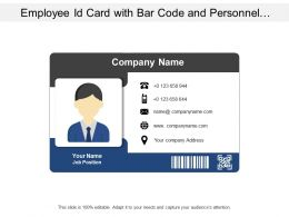 Company Id Card For Employee Information Include Date Of Joining And Validity Details