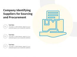 Company Identifying Suppliers For Sourcing And Procurement