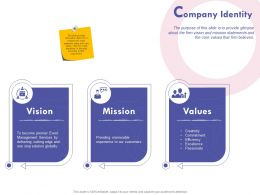 Company Identity Values Ppt Powerpoint Presentation File Formats