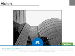 Company Image And Eye For Business Future Vision Powerpoint Slides