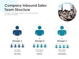 Company Inbound Sales Team Structure