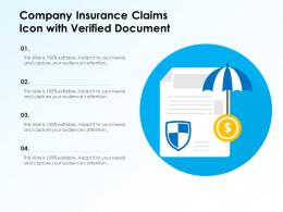 Company Insurance Claims Icon With Verified Document