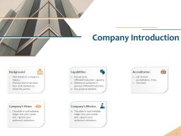 Company Introduction Accreditation Strategy Ppt Powerpoint Layouts