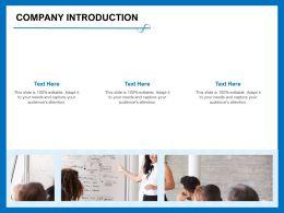 Company Introduction Adapt M388 Ppt Powerpoint Presentation Summary Slide Portrait