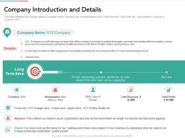 Company Introduction And Details Strategies Win Customer Trust Ppt Sample
