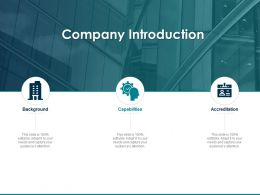 Company Introduction Audiences Attention Capabilities Ppt Powerpoint Presentation Good