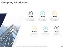 Company Introduction C1474 Ppt Powerpoint Presentation Visual Aids Backgrounds