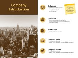 Company Introduction Capabilities Ppt Powerpoint Presentation Outline Outfit