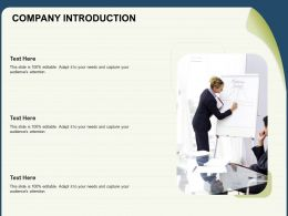 Company Introduction Capture N174 Powerpoint Presentation Slide Download