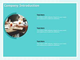 Company Introduction Capure Needs Editable Ppt Powerpoint Presentation Templates