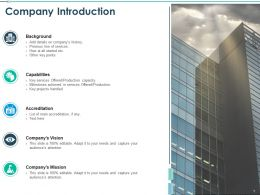 Company Introduction Companys History Ppt Powerpoint Visual Aids
