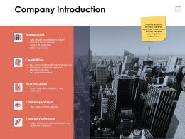 Company Introduction Companys Vision A638 Ppt Powerpoint Presentation File Themes