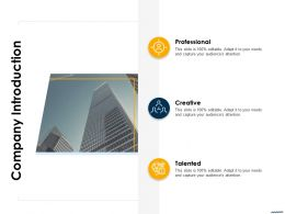 Company Introduction Creative Ppt Graphics Design