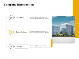 Company Introduction Customer Retention And Engagement Planning Ppt Brochure