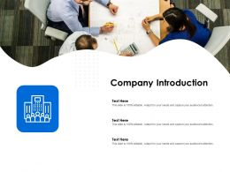 Company Introduction Editable Ppt Powerpoint Presentation Slides File Formats