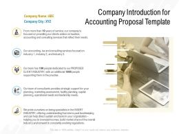 Company Introduction For Accounting Proposal Template Ppt Powerpoint Presentation Slides