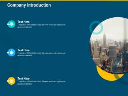 Company Introduction Investment Pitch Raise Funding Series B Venture Round Ppt Slide