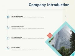 Company Introduction Itil Service Level Management Process And Implementation Ppt Powerpoint Presentation Picture
