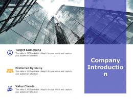 Company Introduction Ppt Powerpoint Presentation Slides Portfolio