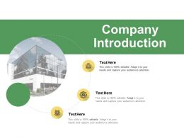 Company Introduction Ppt Powerpoint Presentation Visual Aids Portfolio