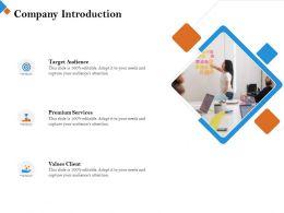 Company Introduction Premium Services M2441 Ppt Powerpoint Presentation Inspiration