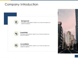 Company Introduction Process Of Requirements Management Ppt Slides