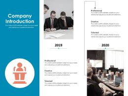 Company Introduction Professional Ppt Graphics Pictures
