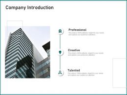 Company Introduction Professional Talented Ppt Powerpoint Presentation Background