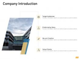 Company Introduction Requirement Management Planning Ppt Topics