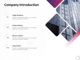 Company Introduction Target Audience Ppt Powerpoint Icon Designs