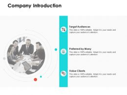 Company Introduction Target Audiences Ppt Powerpoint Presentation Infographic Summary