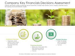Company Key Financials Decisions Assessment