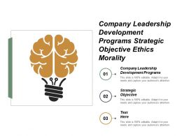 Company Leadership Development Programs Strategic Objective Ethics Morality Cpb