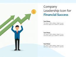 Company Leadership Icon For Financial Success